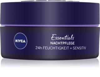 Nivea Essentials pomirjajoča nočna krema za občutljivo kožo