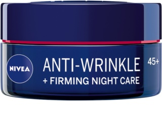 Nivea Anti-Wrinkle Firming creme de noite reafirmante para as rugas 45+