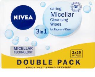 Nivea Micellar tisztító micelláris kendőcskék az arcra 3 az 1-ben
