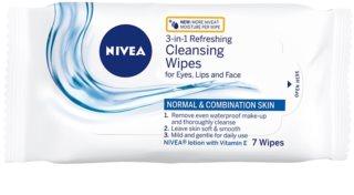 Nivea 3in1 Refreshing osvěžující čisticí pleťové ubrousky