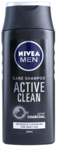 Nivea Men Active Clean champô com ingredientes ativos de carvão