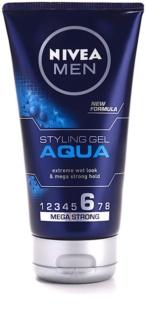 Nivea Men Aqua gél na vlasy s mokrým efektom extra silné spevnenie
