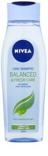 Nivea Balanced & Fresh Care pečující šampon pro normální až mastné vlasy