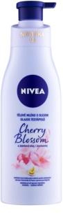 Nivea Cherry Blossom & Jojoba Oil testápoló tej olajjal
