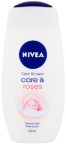 Nivea Care & Roses gel douche traitant