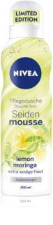Nivea Silk Mousse Lemon Moringa tápláló fürdőhab