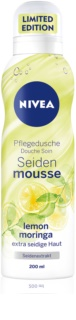 Nivea Silk Mousse Lemon Moringa spumă de duș pentru îngrijire