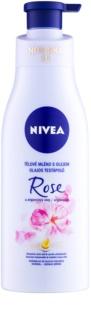 Nivea Rose & Argan Oil lait corporel à l'huile
