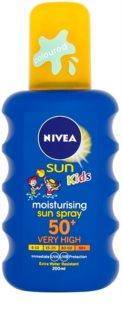 Nivea Sun Kids dětský barevný sprej na opalování SPF 50+