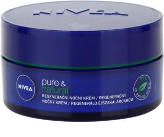 Nivea Visage Pure & Natural crème de nuit régénérante pour tous types de peau