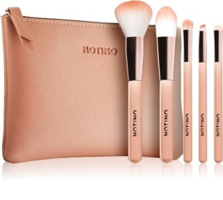 Notino Glamour Collection Travel Brush Set with Pouch zestaw podróżny pędzli z kosmetyczką