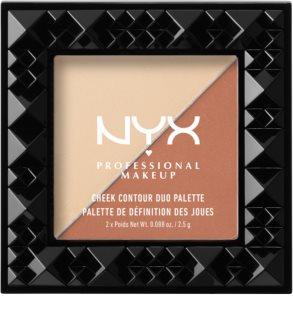 NYX Professional Makeup Cheek Contour Duo paleta na kontury obličeje