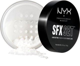 NYX Professional Makeup SFX Set transparentní fixační pudr
