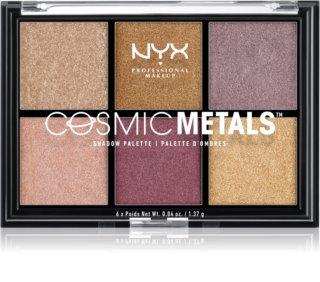 NYX Professional Makeup Cosmic Metals™ paletă cu farduri de ochi