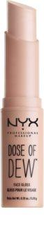 NYX Professional Makeup Dose of Dew™ rozjasňovač v tyčince