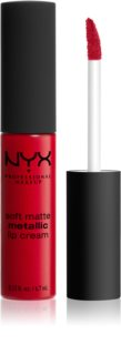 NYX Professional Makeup Soft Matte Metallic Lip Cream Liquid Lipstick with a Metallic Matte Finish