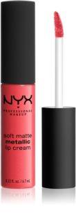 NYX Professional Makeup Soft Matte Metallic Lip Cream tekući ruž za usne s metalik mat finišom