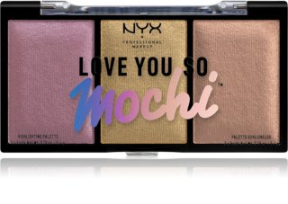 NYX Professional Makeup Love You So Mochi paletka rozjasňovačov