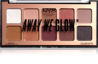 NYX Professional Makeup Away We Glow paletă cu farduri de ochi