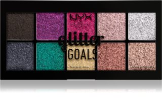 NYX Professional Makeup Glitter Goals Pressed Shimmer Palette