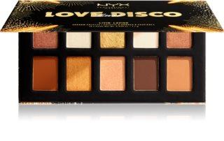 NYX Professional Makeup Love Lust Disco paleta senčil za oči