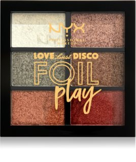 NYX Professional Makeup Love Lust Disco Foil Play Lidschattenpalette