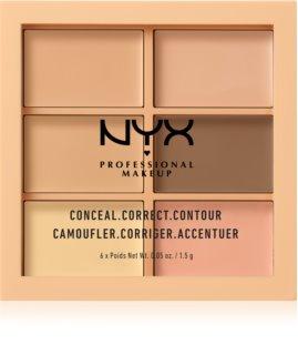 NYX Professional Makeup Conceal. Correct. Contour paletes de corretores e contorno