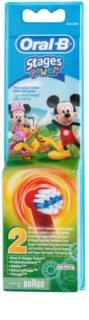 Oral B Stages Power EB10 Mickey Mouse náhradní hlavice pro zubní kartáček extra soft