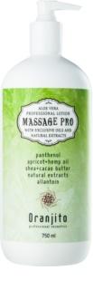 Oranjito Massage Pro leite de massagem com aloe vera