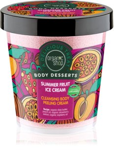 Organic Shop Body Desserts Summer Fruit Ice Cream почистващ пилинг крем