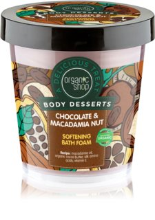 Organic Shop Body Desserts Chocolate & Macademia Nut Softening Bath Foam