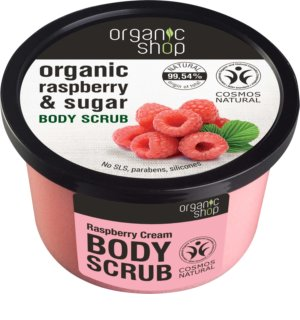 Organic Shop Body Scrub Ruspberry & Sugar нежен пилинг за тяло
