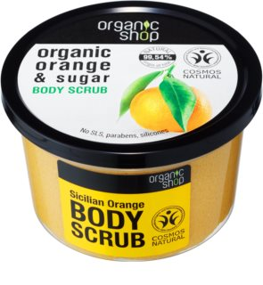 Organic Shop Organic Orange & Sugar Toning Exfoliator for Body