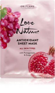 Oriflame Love Nature masca faciala hidratanta antioxidanta