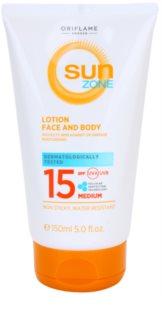 Oriflame Sun Zone opalovací mléko na obličej a tělo SPF 15