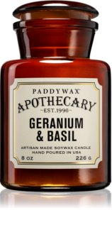 Paddywax Apothecary Geranium & Basil świeczka zapachowa  226 g
