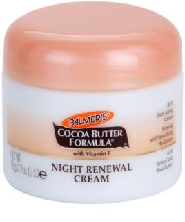 Palmer's Face & Lip Cocoa Butter Formula odnawiający krem na noc przeciw starzeniu się skóry