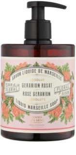 Panier des Sens Rose Geranium sapun lichid cu pompa