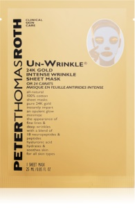 Peter Thomas Roth Un-Wrinkle 24K Gold Sheet Mask with Anti-Wrinkle Effect