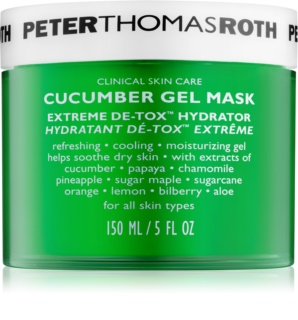 Peter Thomas Roth Cucumber De-Tox Hydrating Gel Mask For Face And Eye Area