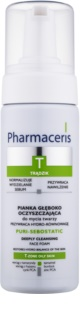 Pharmaceris T-Zone Oily Skin Puri-Sebostatic Cleansing Foam For Skin Left Dry And Irritated By Medicinal Acne Treatment