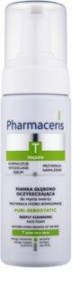 Pharmaceris T-Zone Oily Skin Puri-Sebostatic Reinigingsschuim  voor Uitgerdroogde en Geirriteerde Huid na Acne Behandeling