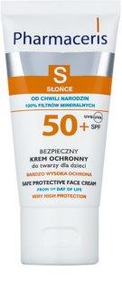 Pharmaceris S-Sun zaščitna krema za obraz za otroke od rojstva SPF50+