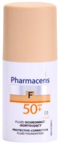 Pharmaceris F-Fluid Foundation Beschermende Dekkende Foundation SPF 50+