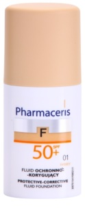 Pharmaceris F-Fluid Foundation schützendes Cover - Make up SPF 50+