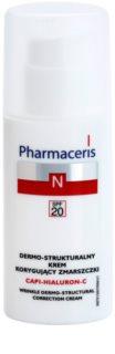 Pharmaceris N-Neocapillaries Capi-Hyaluron-C crema antiarrugas para renovar la densidad de la piel para pieles sensibles con tendencia a las rojeces