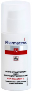 Pharmaceris N-Neocapillaries Capi-Hyaluron-C krema proti gubam, ki obnavlja gostoto kože za občutljivo kožo, nagnjeno k rdečici
