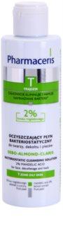 Pharmaceris T-Zone Oily Skin Sebo-Almond-Claris oczyszczający płyn bakteriostatyczny do twarzy, dekoltu i pleców do skóry problemowej
