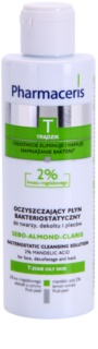 Pharmaceris T-Zone Oily Skin Sebo-Almond-Claris Antibacterial Cleansing Water for Face, Chest and Back For Problematic Skin