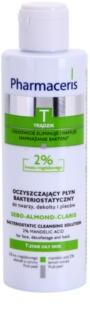 Pharmaceris T-Zone Oily Skin Sebo-Almond-Claris antibakterielles Reinigungswasser für Gesicht, Dekolleté und Rücken für unreine Haut